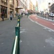 ecoglo G3001 Guidance Strips on Pedestrian barrier